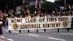 1960: Home club of Finis Davis Louisville, Kentucky parade march. Stock Footage