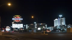 Time lapse of the Laughlin casino strip at night Stock Footage