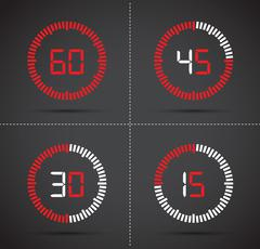 a timer set - stock illustration