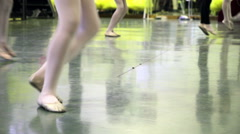 dance school, girls who try choreography of a ballet - stock footage