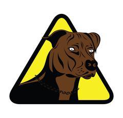 Staffordshire terrier dog sign Stock Illustration