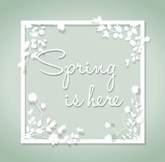 spring is here background - stock illustration
