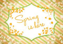 Spring is here background Stock Illustration