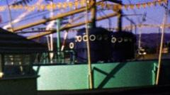 1964: Disneyland amusement park attraction Christmas time tree. Stock Footage