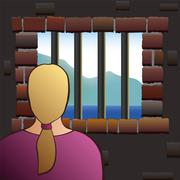 Captivity Woman Detainee Prisoner Jail - stock illustration