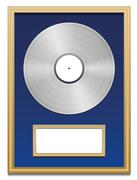 Platinum Certified Platin Record Plaque Blank Frame Stock Illustration