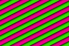 Pink and green abstract background with diagonal stripes - stock illustration
