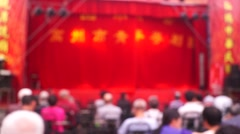 Shenzhen Xixiang Pak Tai Temple held a puppet show activities Stock Footage