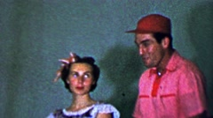 1957: Musical actor performance comedy horny dumb man wants prude. Stock Footage