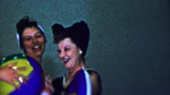 1957: Women practicing beach party musical acting theatre. Stock Footage