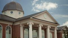 Sky timelapse by Jefferson style building. - stock footage
