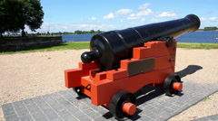 Old cannon - stock footage