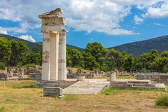 Ruins of Asclepeion, Argolida, Greece Stock Photos