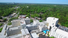 Aerial drone video of Tallahassee Memorial Hospital 1300 Miccosukee Rd Stock Footage