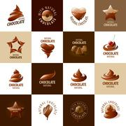 vector logo chocolate - stock illustration