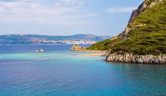 seascape of Ionion sea - stock photo