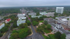 Aerial panoramic video of the Florida State Capitol Building in Tallahassee - stock footage