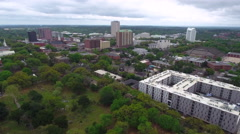 Aerial drone video City of Tallahassee Florida Stock Footage