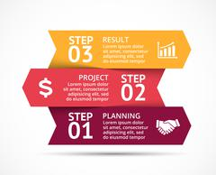 Vector arrows infographic, diagram, graph, presentation, chart. Business concept Piirros