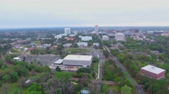 Aerial Tallahassee and Cascades Park Stock Footage