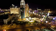 Las Vegas Strip time lapse from Excalibur Arkistovideo