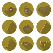 Flat icons the first world war Stock Illustration