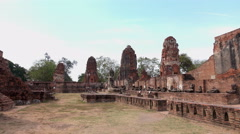 Wat Mahathat, Ayutthaya Historic Old Temple Stock Footage