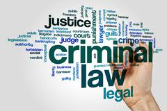 Criminal law word cloud - stock photo