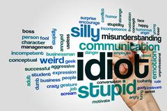 Idiot word cloud concept - stock photo