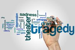 Tragedy word cloud - stock photo