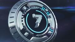 Futuristic Sci-fi 3D Countdown Stock Footage
