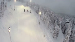 Aerial view of skier doing trick Stock Footage