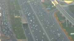 Traffic jam on Sheikh Zayed Road car congestion on large avenue Dubai transport Stock Footage