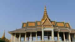 The Moonlight Pavilion and Royal Palace in Phnom Penh Cambodia Stock Footage