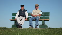 Two Pensioner On The Dike Stock Footage