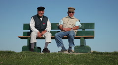 Two Pensioner On The Dike - stock footage