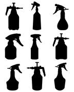 Silhouettes of sprayer Stock Illustration