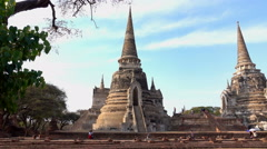 Tourists Wat Phra Si Sanphe - stock footage