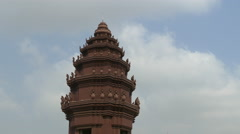 Time alpse from the Independence Monument in Phnom Penh Cambodia Stock Footage