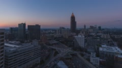 4K Atlanta, Georgia elevated static timelapse of Midtown dusk to night Stock Footage
