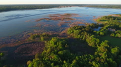 Aerial video of Lake Jackson FL Stock Footage