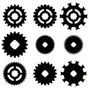Vector image of gears. - stock illustration