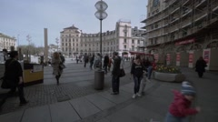 Munich Stachus and Underground Stock Footage