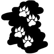 Vector image of paws. Stock Illustration
