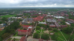Florida State University Aerial drone video series Stock Footage