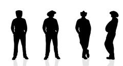 Vector silhouette  of man. Stock Illustration