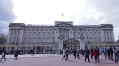 Buckingham Palace London time lapse still shot Stock Footage