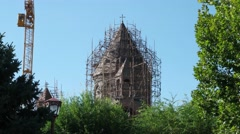 Stock Video Footage of All Saviors church cupola restoring, Gyumri, Armenia