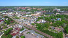 Aerial video Downtown Tallahassee Florida Stock Footage