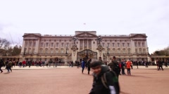 Buckingham palace, London. Still shot Stock Footage